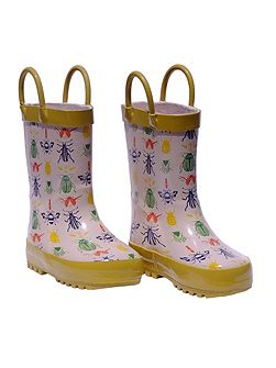 Bug Print Wellies