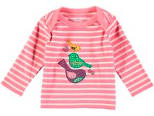 Rockin' Baby Girls Long Sleeve Embroidered Bird T-Shirt