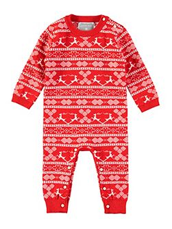 Christmas Knitted Footless All-in-One