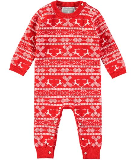 Rockin' Baby Christmas Knitted Footless All-in-One