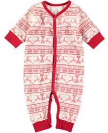Rockin' Baby Christmas Fairisle Footless All-in-One