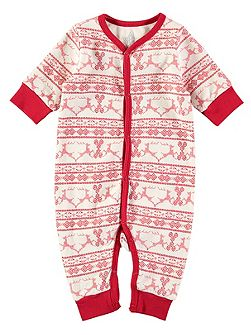 Christmas Fairisle Footless All-in-One