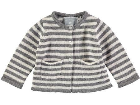 Rockin' Baby Boys Grey Stripe Cardigan