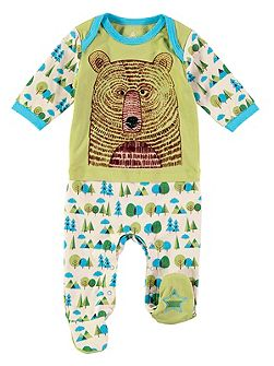 Boys Bear Face Onesie