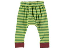 Rockin' Baby Boys Green Stripe Cotton Leggings