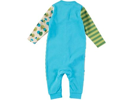 Rockin' Baby Forest Print And Stripe Footless All-in-One