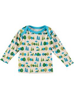 Boys Long Sleeve Forest Print T-Shirt