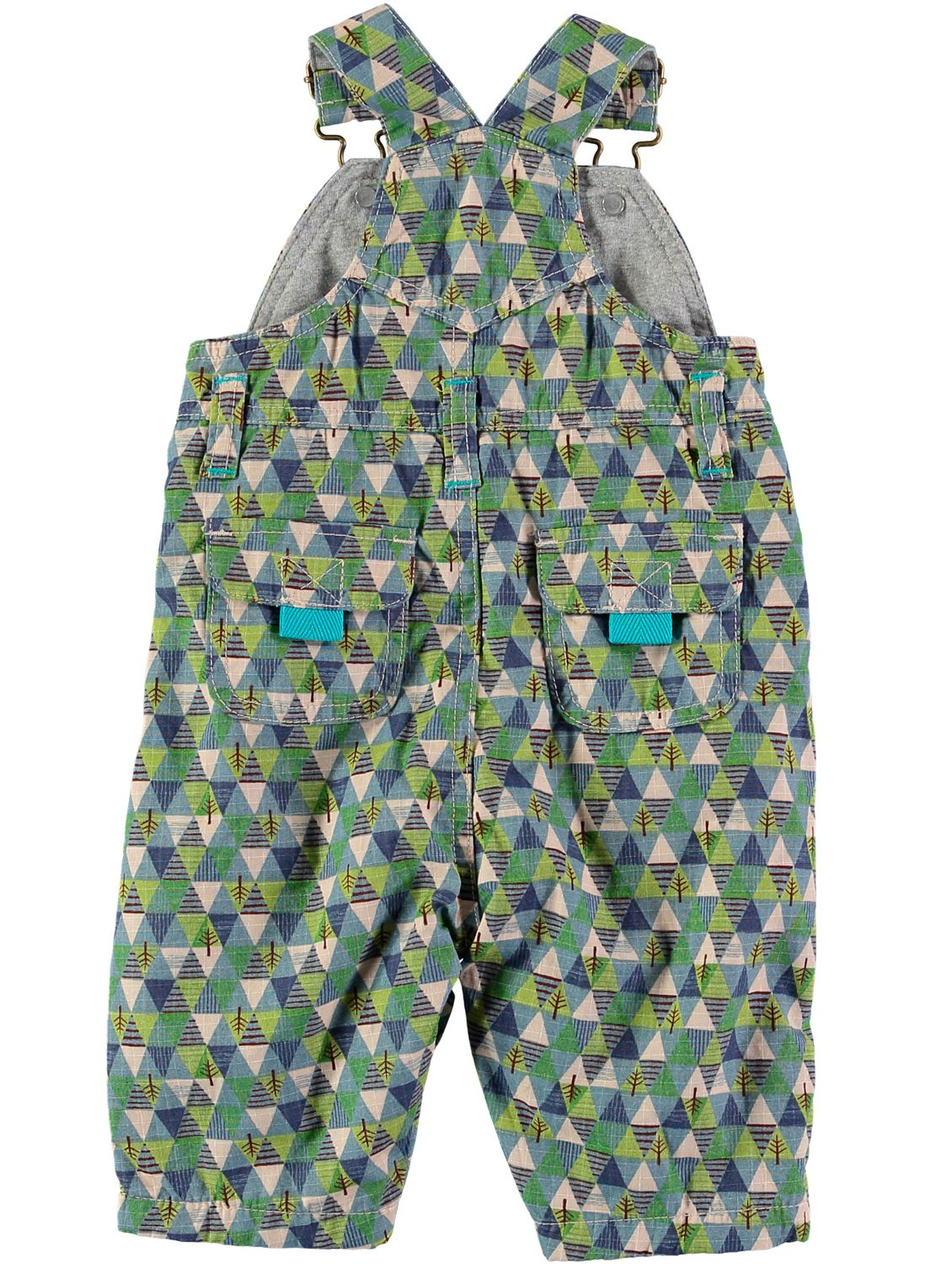 Rockin' Baby Rockin' Baby Boys Tree Print Cotton Overalls, Green