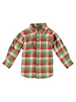 Boys Stone Checked Shirt