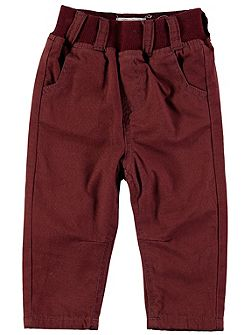 Boys Brown Pull-On Chinos