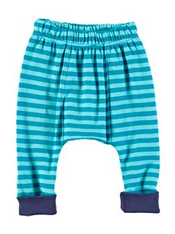 Boys Blue Stripe Leggings