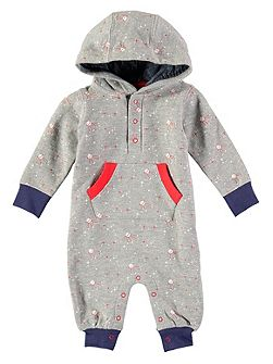 Boys Star Print Hooded Footless