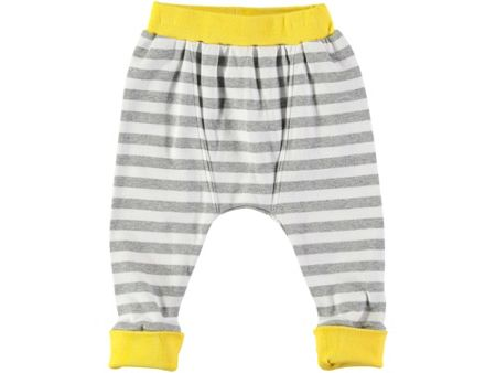 Rockin' Baby Boys Grey Stripe Leggings