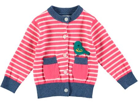 Rockin' Baby Bird Stripe Cardigan
