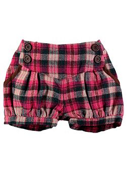 Girls Pink Check Shorts