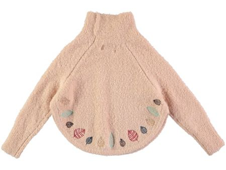 Rockin' Baby Girls Wool-Mix Embroidered Poncho Jumper