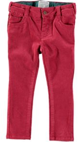 Rockin' Baby Girls Dark Pink Cord Trousers