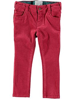 Girls Dark Pink Cord Trousers