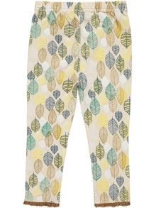 Rockin' Baby Girls Leaf Print Leggings