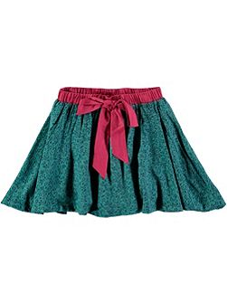 Girls Ditsy Print Skirt