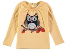 Rockin' Baby Girls Long Sleeve Owl T-Shirt
