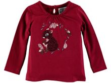 Rockin' Baby Girls Long Sleeve Embroidered Squirrel T-Shirt