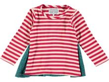 Rockin' Baby Girls Stripe Woven Back T-Shirt