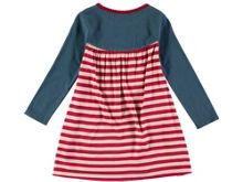 Rockin' Baby Girls Teal And Red Stripe Dress