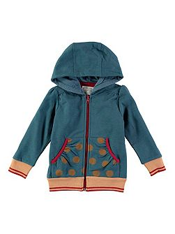 Girls Spot Pocket Hoody