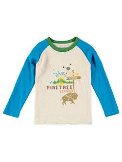 Boys Long Sleeve Pine Tree T-Shirt