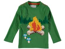 Rockin' Baby Boys Long Sleeve Embroidered Campfire T-Shirt