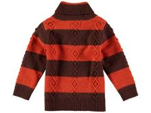Rockin' Baby Boys High Neck Stripe Knit Jumper