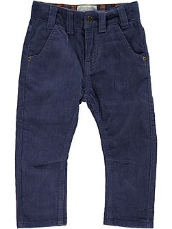 Boys Navy Cord Trousers