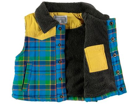 Rockin' Baby Boys Checked Padded Gilet