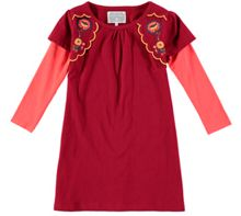 Rockin' Baby Embroidered Moc Sleeve Dress