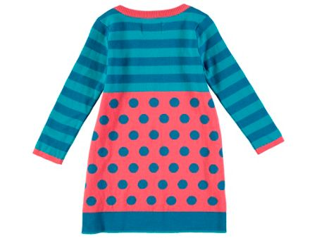 Rockin' Baby Girls Spot And Stripe Knitted Dress