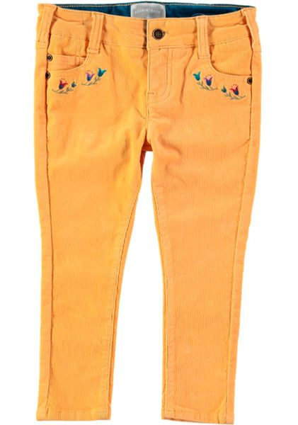 Rockin' Baby Girls Embroidered Pocket Cord Trousers