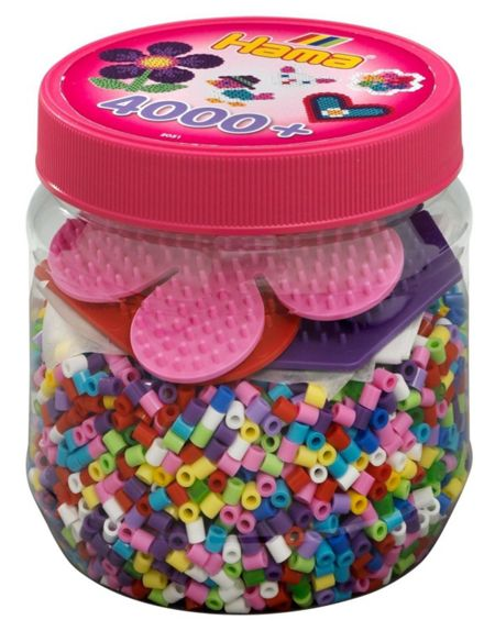 Hama 4000 Beads And 3 Pegboards Tub