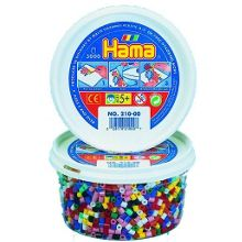 Hama 3000 colourful solid beads in a tub