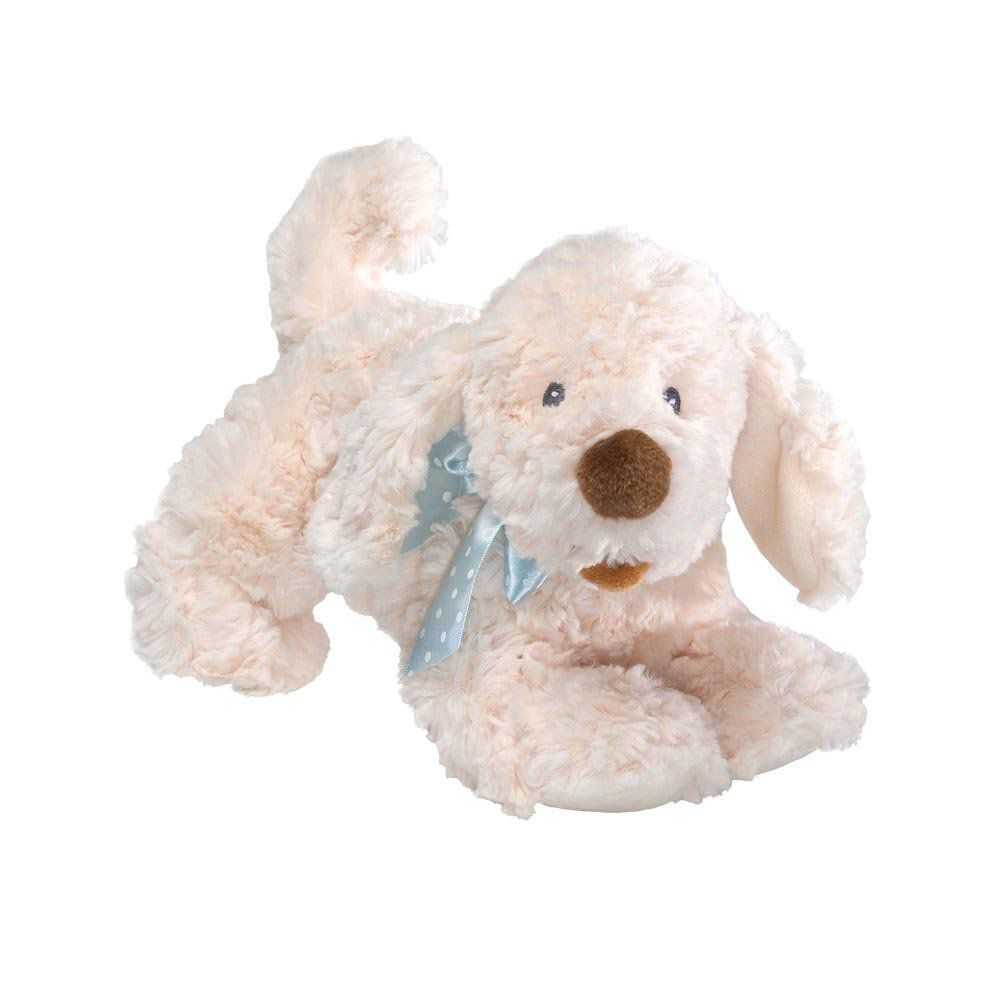 Gund Auggie Doggie with blue ribbon