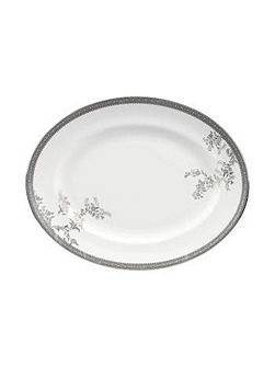 Vera Wang Lace Platinum Large Oval Dish 39cm