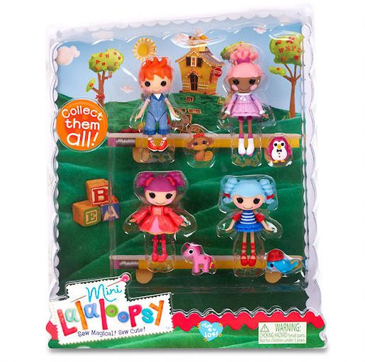 Mini Lalaloopsy Dolls 4 Pack - Set 2