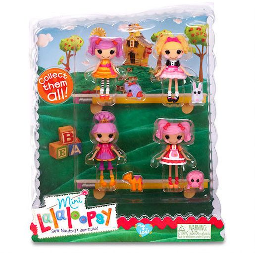 Mini Lalaloopsy Dolls 4 Pack - Set 5