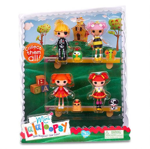 Mini Lalaloopsy Dolls 4 Pack - Set 6