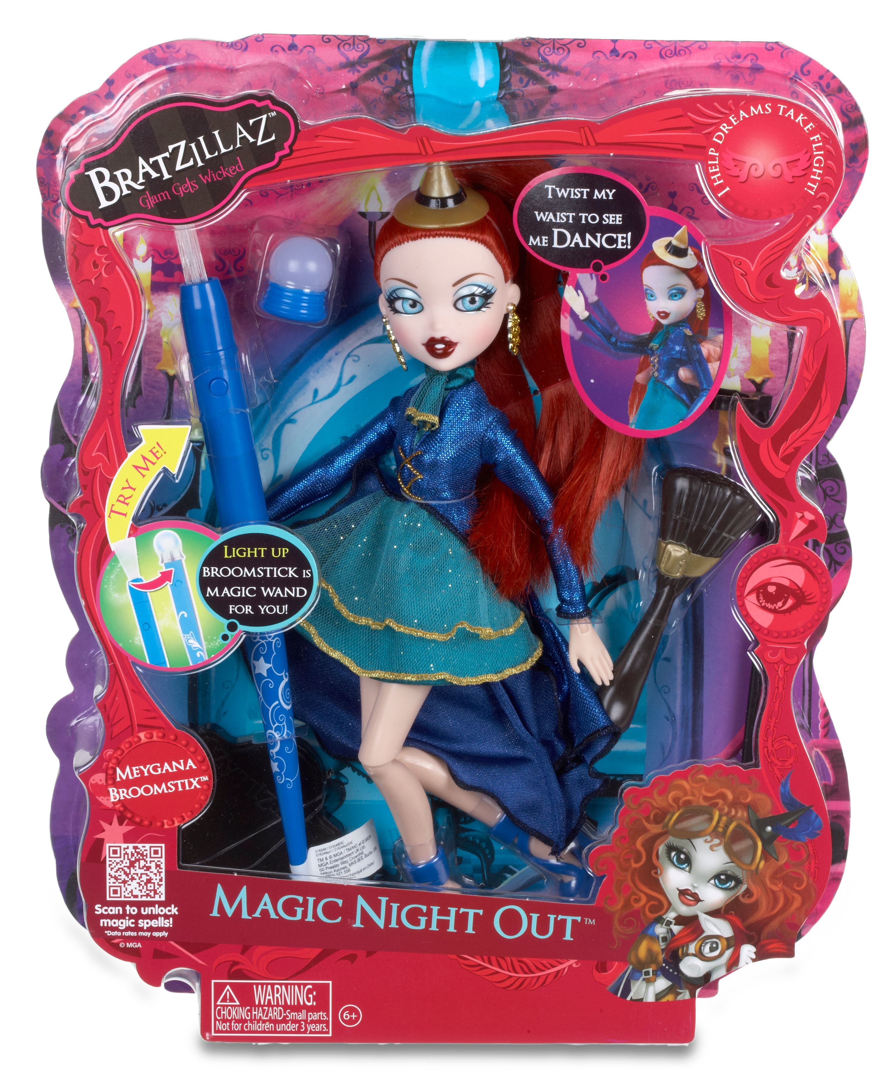Meygana Broomstick Magic Night Out  Doll