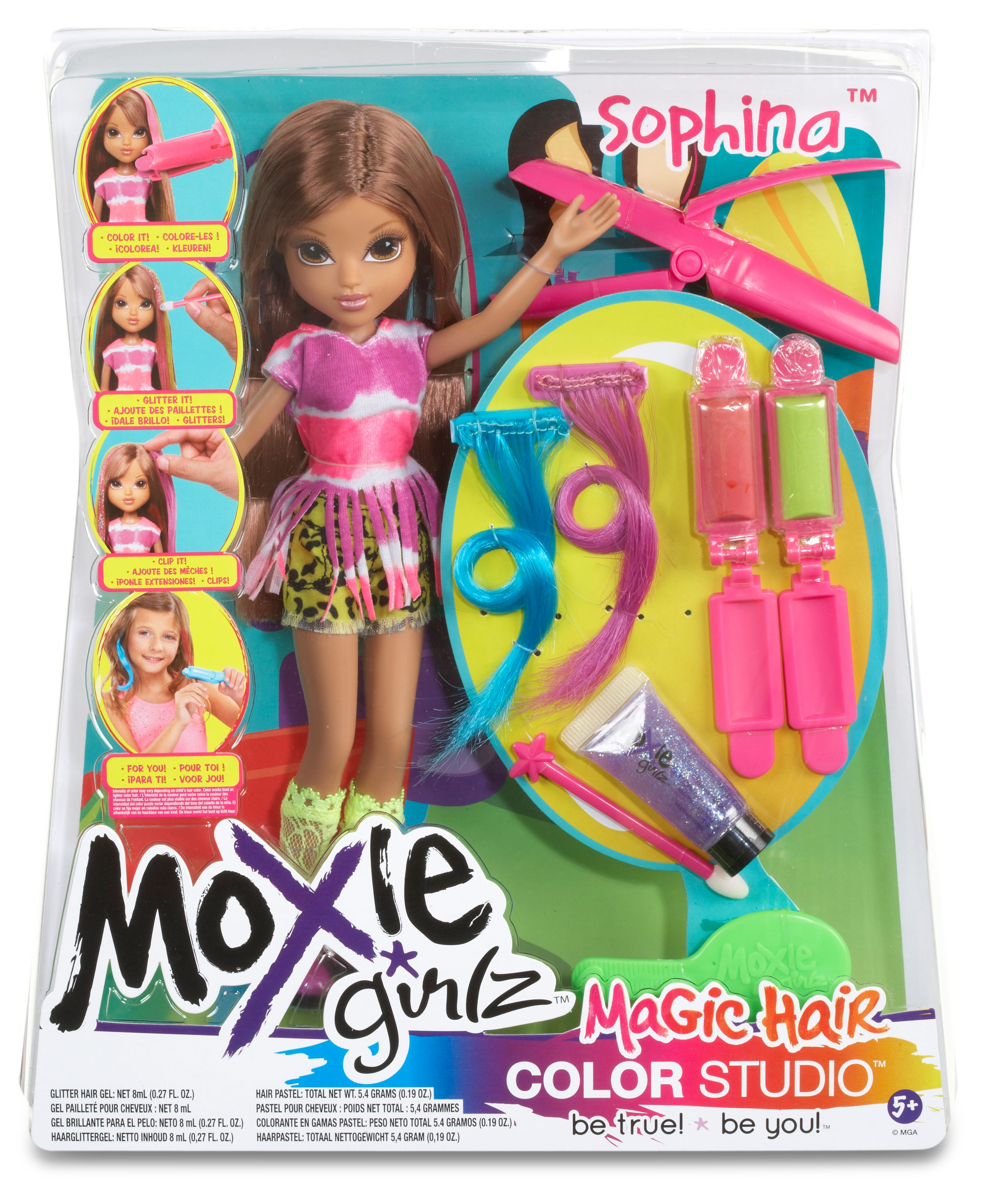 Moxie Girlz Sophina Magic Hair Color Studio