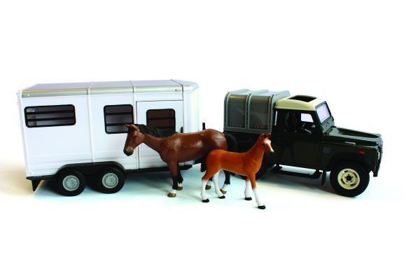 Britains Farm Land Rover& Horse Trailer Set 42835