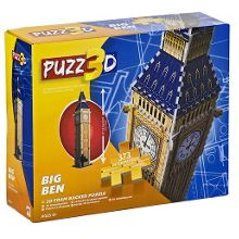 Puzz3d big ben foam puzzle - 373 pieces