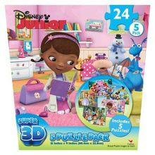 Junior super 3d 5 puzzle pack
