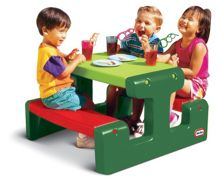 Little Tikes Junior Picnic Table - Green